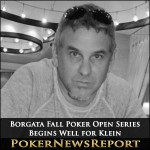 Borgata Fall Poker Open Series Begins Well for Klein