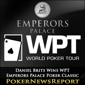 Daniel Brits Wins WPT Emperors Palace Poker Classic