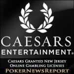 Caesars Granted New Jersey Online Gambling Licenses