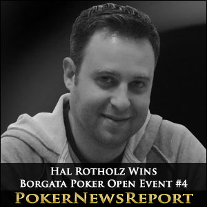 Hal Rotholz Wins Borgata Poker Open Event #4
