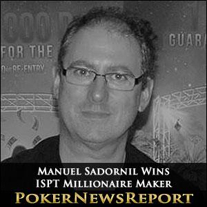 Manuel Sadornil Wins ISPT Millionaire Maker