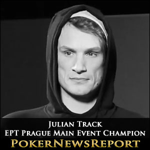 Julian Track EPT Prague Main Event Champion