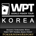 Masato Yokosawa is Winner of First WPT Korea Main Event