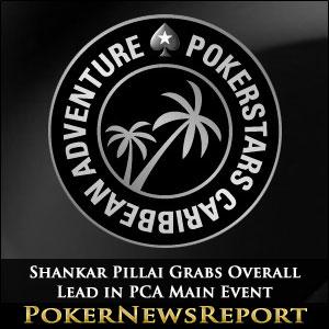 Shankar Pillai Grabs Overall Lead in PCA Main Event