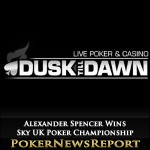 Alexander Spencer Wins Sky UK Poker Championship