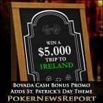 Bovada Cash Bonus Promo Adds St. Patrick's Day Theme