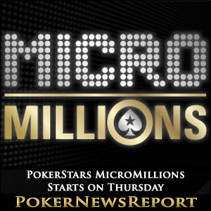 PokerStars MicroMillions Starts on Thursday