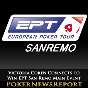 Victoria Coren Connects to Win EPT San Remo Main Event