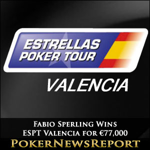 Fabio Sperling Wins ESPT Valencia for €77,000