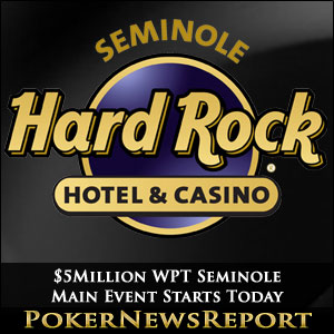 $5Million WPT Seminole Main Event Starts Today