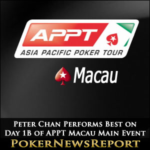 Peter Chan Performs Best on Day 1B of APPT Macau Main Event
