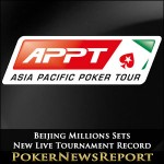Beijing Millions Sets New Live Tournament Record