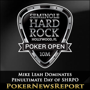 Mike Leah Dominates Penultimate Day of SHRPO