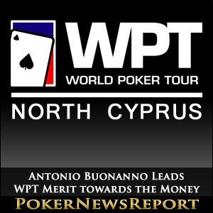 Antonio Buonanno Leads WPT Merit towards the Money