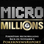 PokerStars MicroMillions is Back on November 6