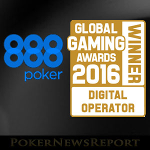 888Poker Awarded Best Digital Operator 2016