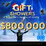 888Poker Launches $800,000 Gift Shower Promotion