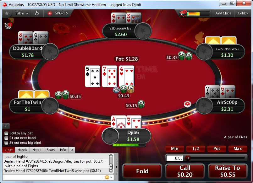 Showtime Hold'em Table