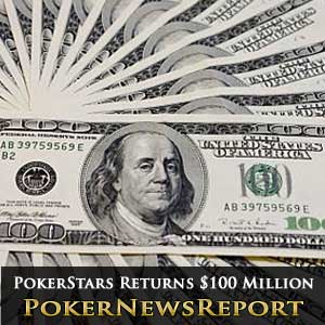 PokerStars returns more than $100 million to US Players