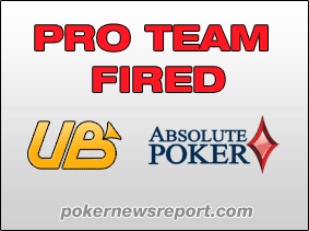 UB and absolute poker fire pro team