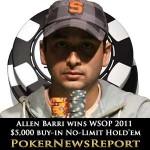 Allen Bari Wins WSOP 2011 $5,000 Buy-in No-Limit Hold'em