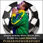 Andre Akkari Fulfils Destiny to Lift $1,500 No-Limit Hold'em Bracelet