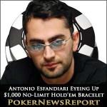 Antonio Esfandiari Eyeing Up $1,000 No-Limit Hold'em Bracelet