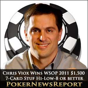 WSOP 2011 Chris Viox Wins $1,500 Seven-Card Stud Hi-Low-8 or Better Event
