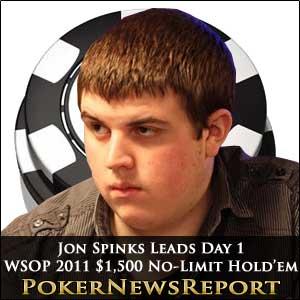Jon Spinks Leads Day 1 WSOP 2011 $1,500 No-Limit Hold'em
