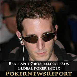 Bertrand Grospellier remains on top of GPI rankings