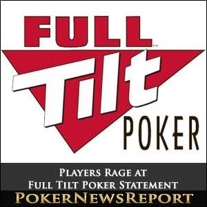 Full Tilt Poker Statement