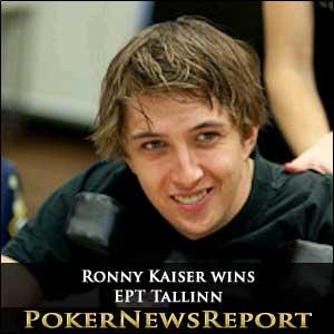 Ronny Kaiser on a Swiss Roll at EPT Tallinn
