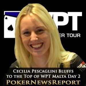 Cecilia Pescaglini Bluffs to the Top of WPT Malta Day 2