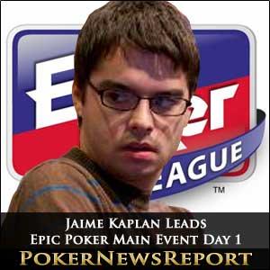 Jaime Kaplan Leads Epic Poker Main Event Day 1