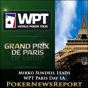 Mikko Sundell Leads WPT Paris Day 1A