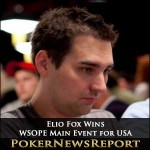Elio Fox Wins WSOPE Main Event for USA