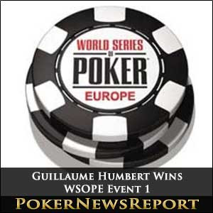 Guillaume Humbert Wins WSOPE Event 1