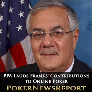 PPA Lauds Franks' Contributions to Online Poker