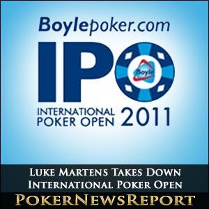 Luke Martens Takes Down International Poker Open