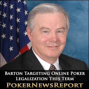 Joe Barton Targeting Online Poker Legalization This Term