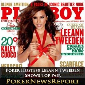 Poker Hostess Leeann Tweeden Shows Top Pair