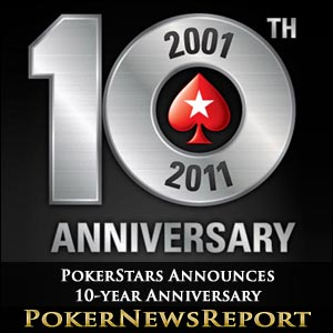 PokerStars Announces 10-Year Anniversary