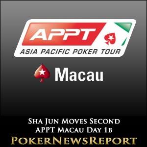 Sha Jun Moves Second APPT Macau Day 1b