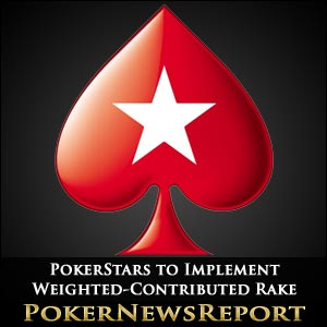PokerStars Implements Weighted-Contributed Rake