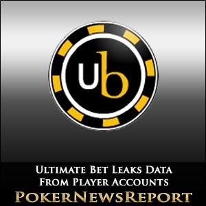 Ultimate Bet Poker Data Leak Reveals Players' Account Info