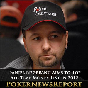Daniel Negreanu Aims to Top All-Time Money List in 2012