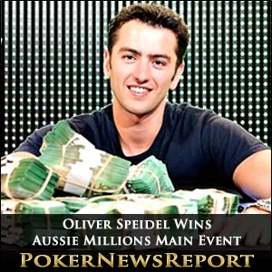 Oliver Speidel Charges to Aussie Millions Main Event Title