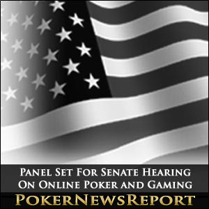 Panel Set For Senate Hearing On Online Poker and Gaming