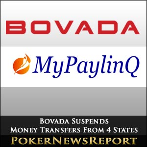 Bovada Suspends Money Transfers From Four States