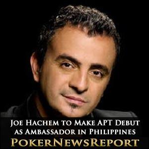 Joe Hachem to Make APT Debut as Ambassador in Philippines